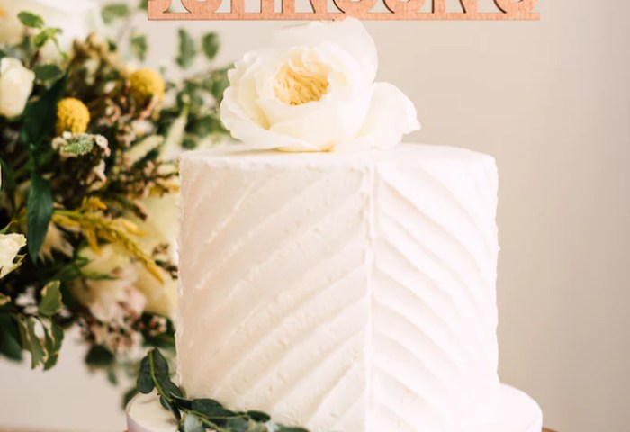 8 Custom Bold Wedding Cake Topper Wood Happily Ever Etched