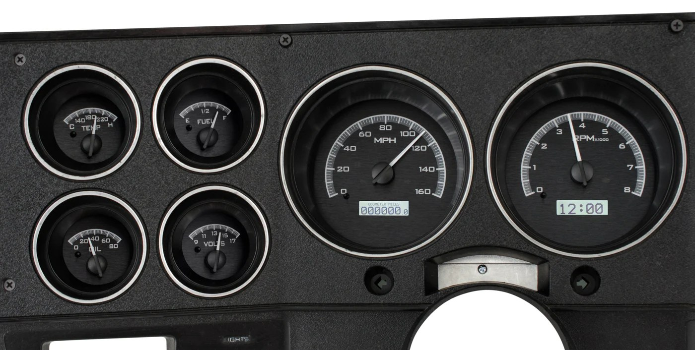 hight resolution of dakota digital 1973 1987 chevy truck vhx black background white light hi tech classics