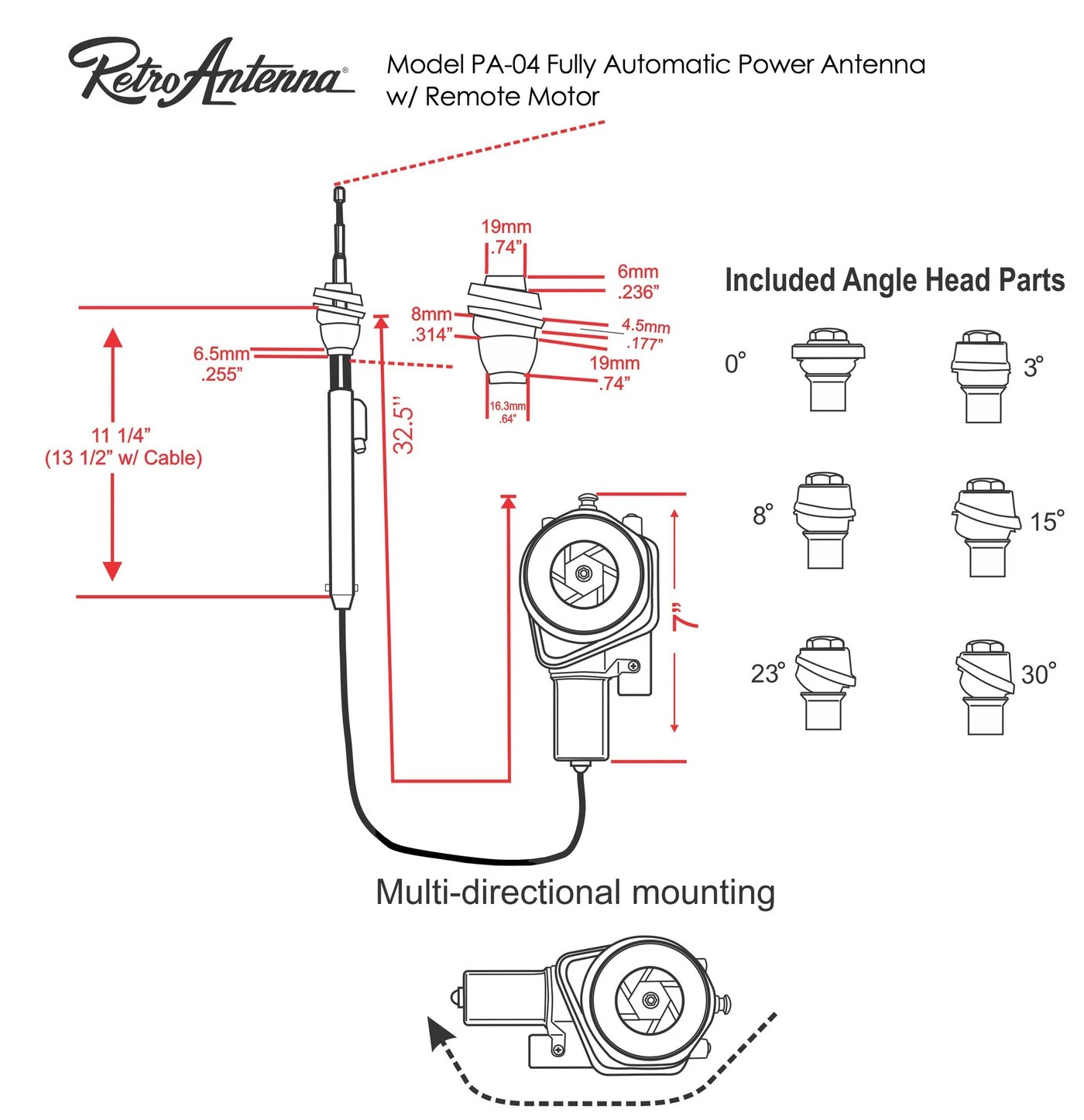 medium resolution of  1948 56 ford truck fully automatic power antenna retro manufacturing 4