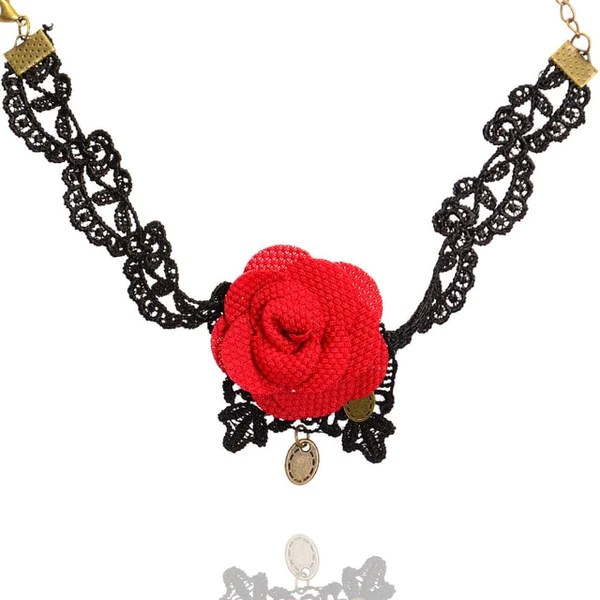 lace gothic flowers anklets