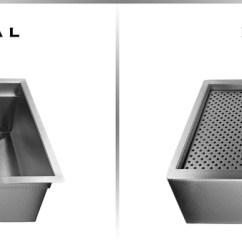 Kitchen Sink With Cutting Board Storage Cabinet Custom Stainless Steel Sinks | Usa Made - Havens Metal
