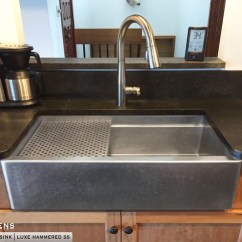 Large Sink Kitchen Giagni Fresco Stainless Steel 1-handle Pull-down Faucet Copper And Farmhouse Sinks Havens Metal Hammered Apron With A Farm Basin