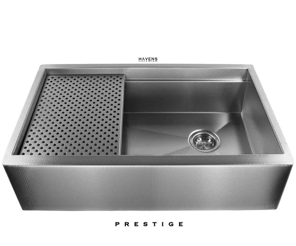 drop in farmhouse kitchen sinks outdoor home depot legacy stainless steel undermount sink | prestige - havens ...