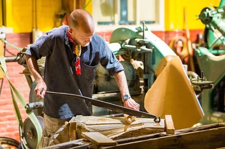 Wooden Shoe Maker in Action