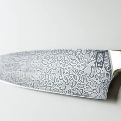 Damascus Kitchen Knives Home Depot Island 8 Western Chef Of Norris Carbon And Koa Nickel Silver Handle