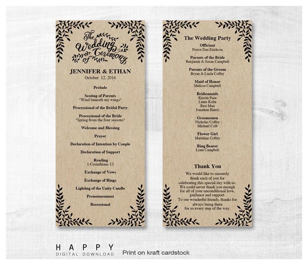 wedding programs happy digital