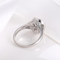 Sterling Silver Horseshoe Diamond Inlaid Dancing Diamond