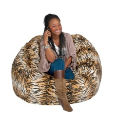 Chair Covers Giant Tiger Nils Cover Pattern Bean Bag Large 4 Foot Cozy Sack Premium Foam Filled
