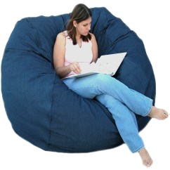 Denim Bean Bag Chair Papasan Cushion Covers Diy Large 5 Foot Cozy Sack Premium Foam Filled