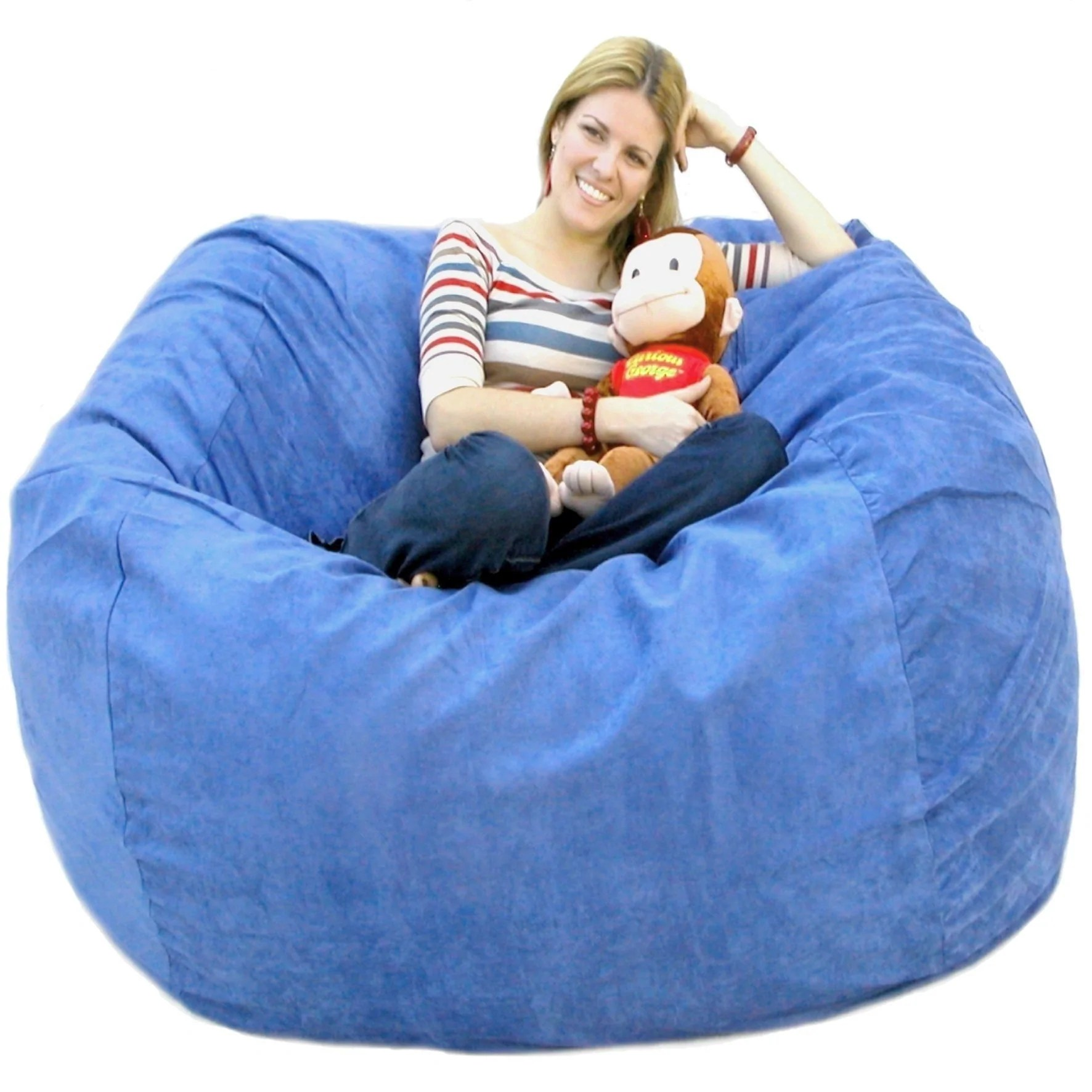 Foam Bean Bag Chair Bean Bag Chair Large 5 Foot Cozy Sack Premium Foam Filled