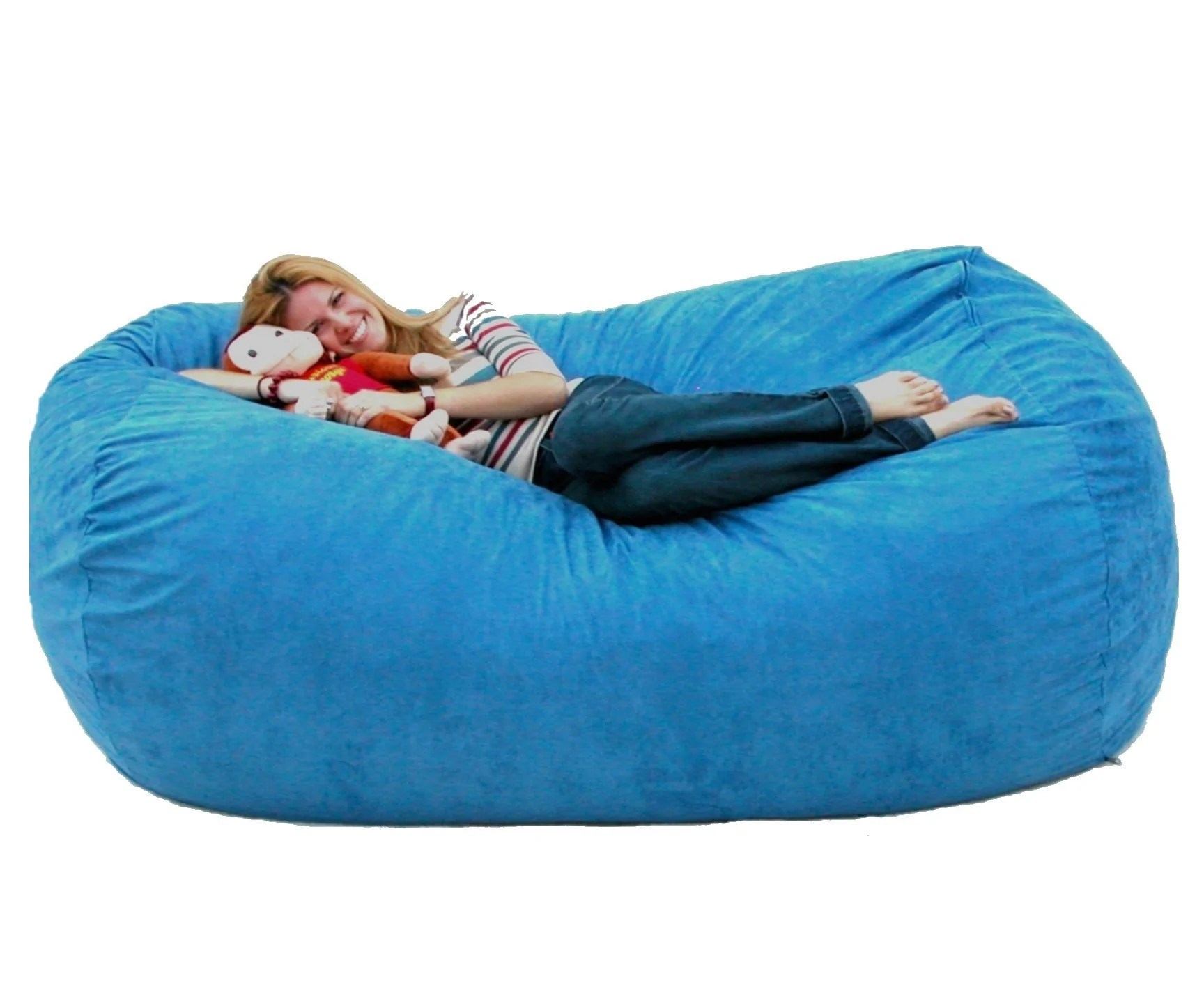 Foam Bean Bag Chair Bean Bag Chair Large 7 Foot Cozy Sack Premium Foam Filled