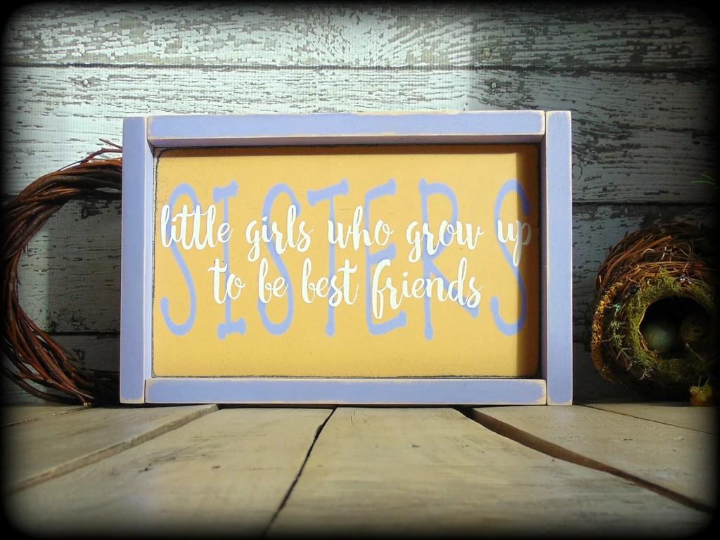 Gift For Sister Sister Sign Rustic Home Decor Framed
