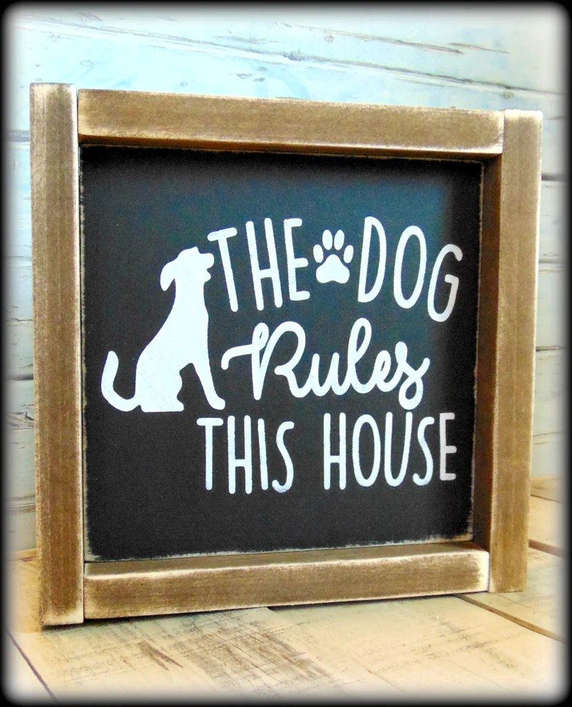 Personalised Dogs House Rules Funny Pet Owner - Year of Clean Water