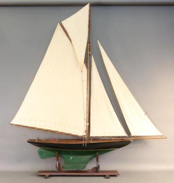 Pond Yacht Model With Gaff Rig Lannan Gallery