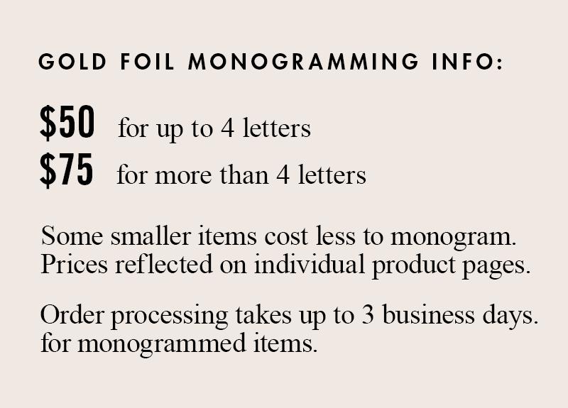 monogramming clare v