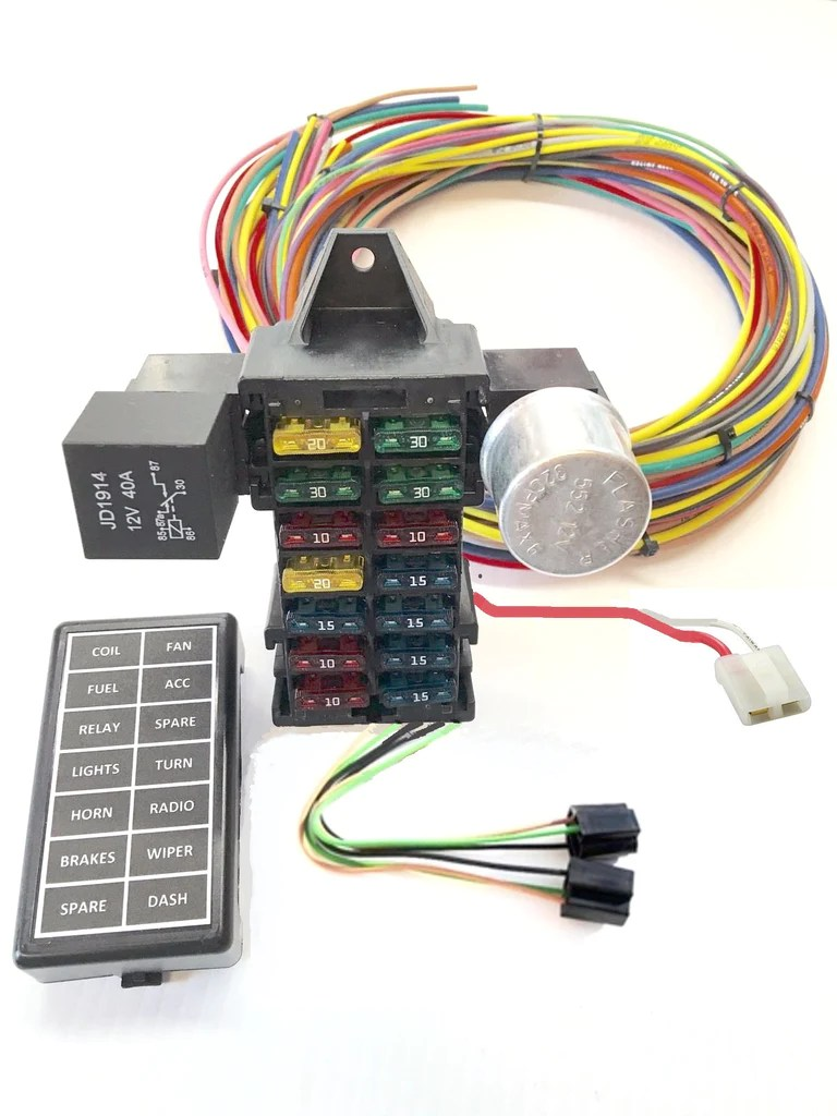 hight resolution of hotrod fuse box all about repair and wiring collections hotrod fuse box wire harness 12 circuit