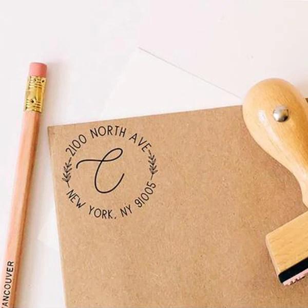 custom calligraphy round return