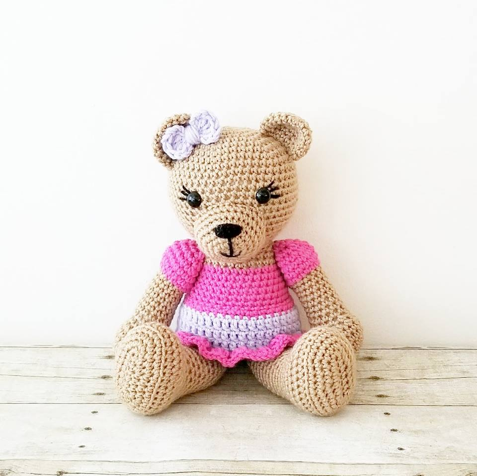 crochet teddy bear gift