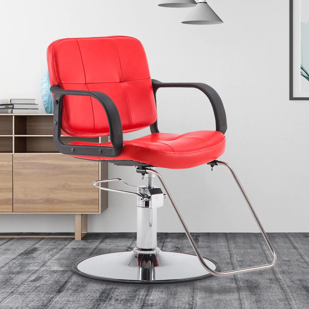 Red Barber Chair Barberpub Classic Hydraulic Barber Chair Salon Beauty Spa Styling Chair 6154 8837