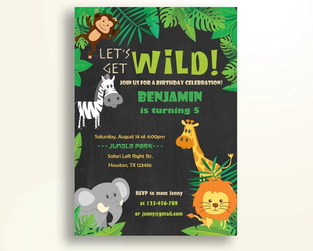 safari birthday invitation animals