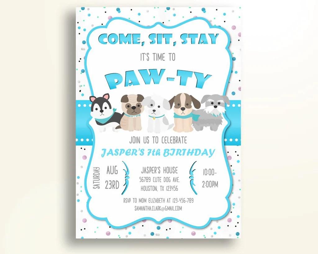 puppy birthday invitation puppy