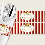 Prince Baby Shower Napkin Rings Printable Red Gold Napkin Wrappers B Studio 118
