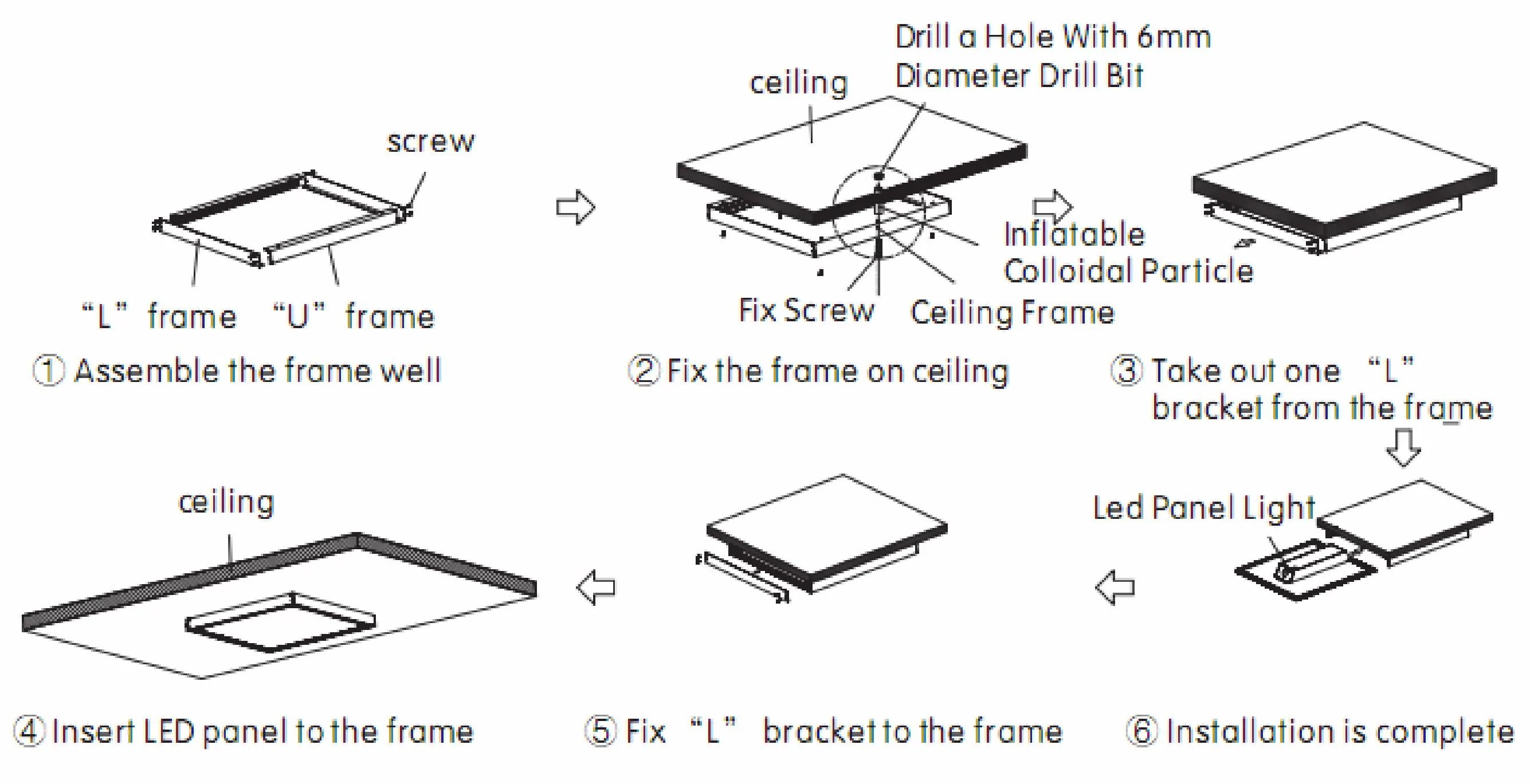 hight resolution of 6 pack flat edge lit led panel 2ft x 4ft 60w 5000k dimmable 6 000 1997 ford ranger fuse box diagram led panel diagram