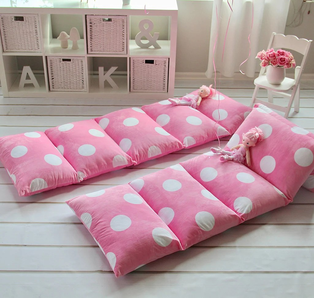 Pillow Bed  Light Pink with Polka Dots  August Lane