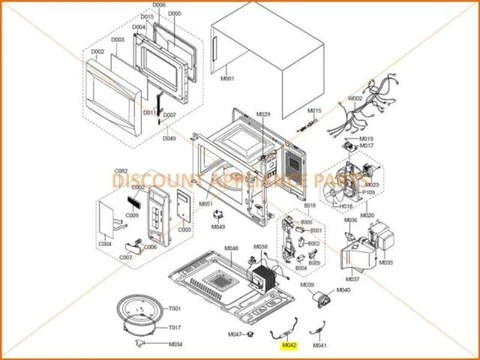samsung microwave assy h v fuse part de91 70061a