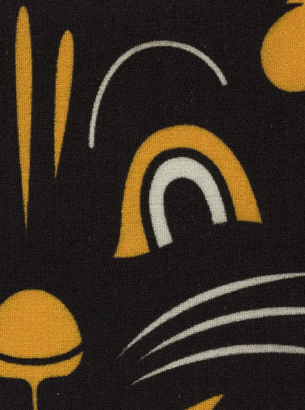 black cat rug by