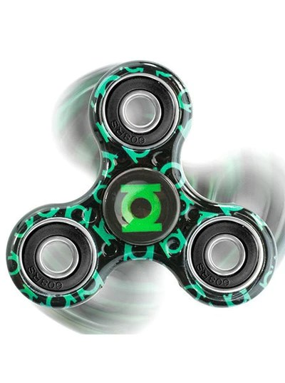 Green Lantern Fidget Spinner Black Inked Shop