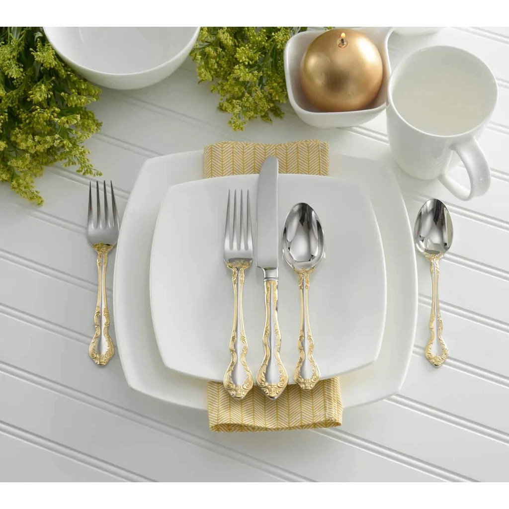 Oneida Golden Mandolina 45 Piece Fine Flatware Set