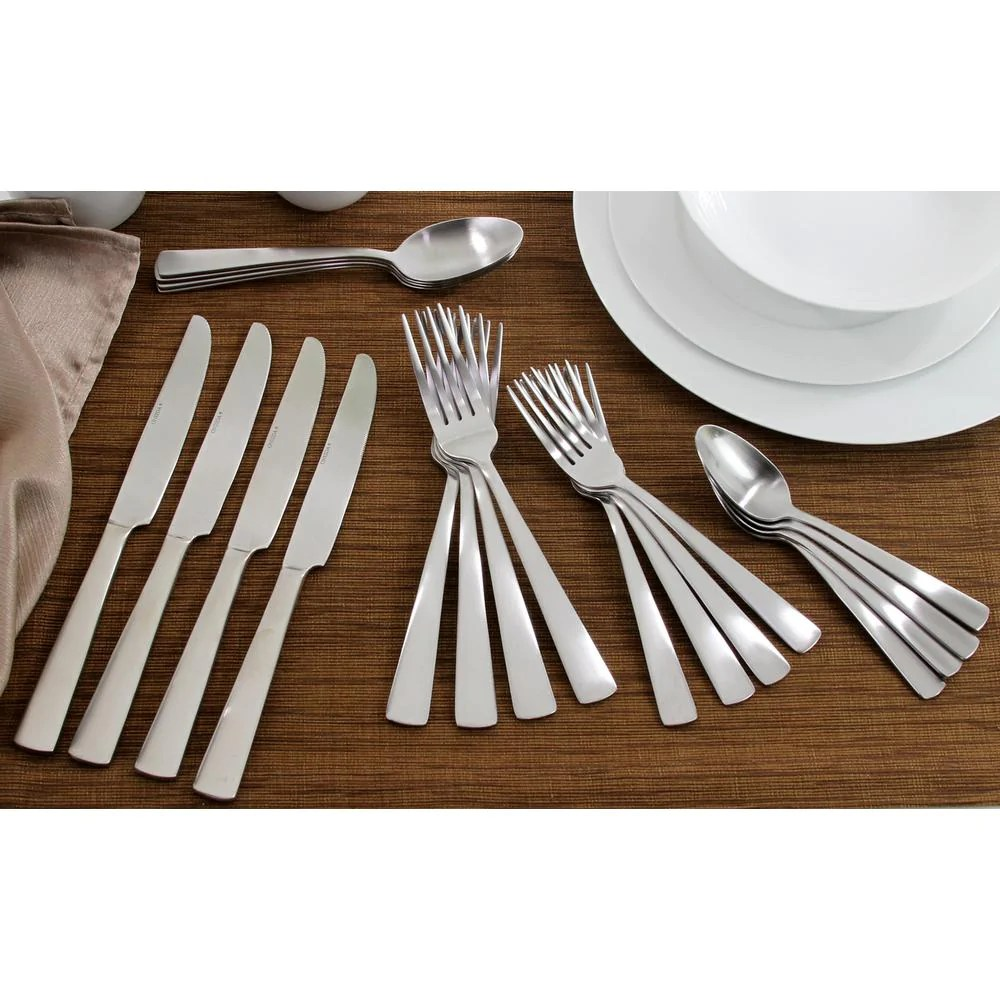 Oneida Satin Nocha 20 Piece Casual Flatware Set Service 4