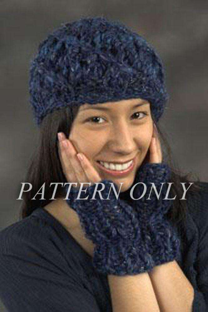 Malizia from Adriafil Diagonal Lace Hat and Mitts *Pattern*