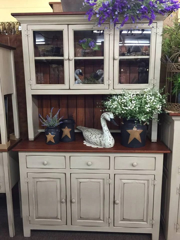 kitchen hutch furniture hinges antique white with michael s cherry top kc country