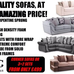 Bed And Sofa Warehouse Leeds Leather Loose Covers Kc Sofas Discount In