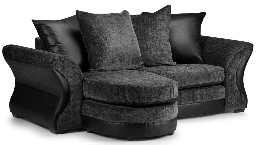 black 3 seater sofa and cuddle chair ikea cover kingston kc sofas
