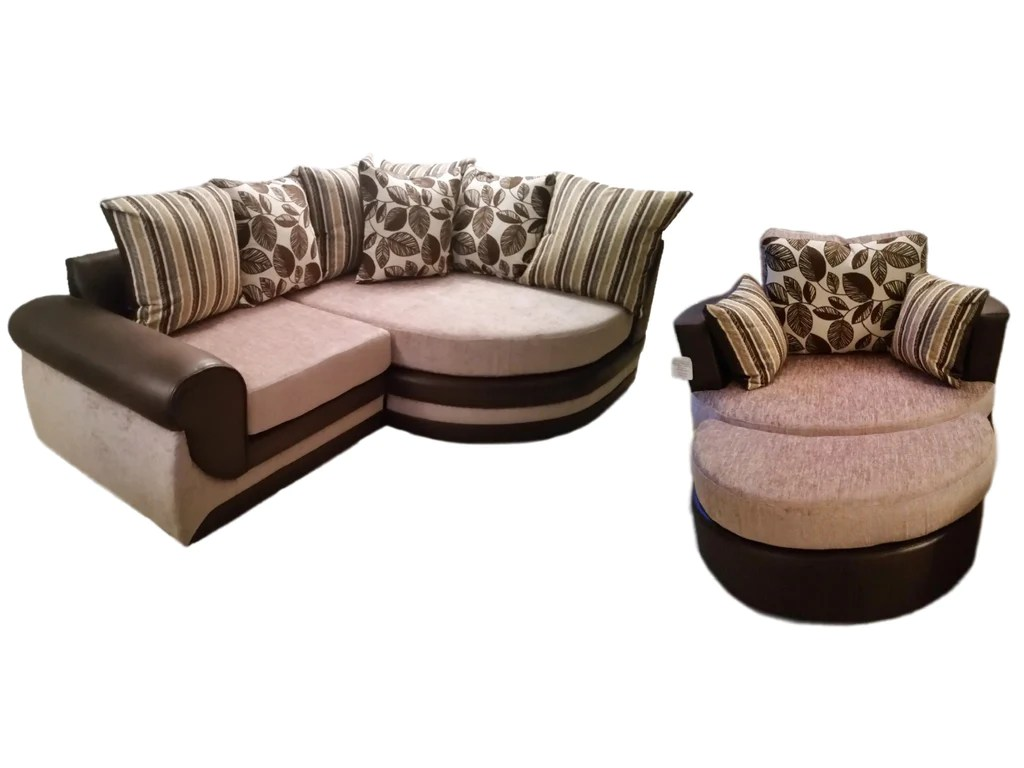 swivel chair sofa set folding makeover kirk vienna cuddle and moon footstool