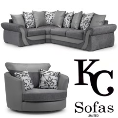 Corner Sofa And Swivel Chair Geeken Revolving Price Swan Large Set  Kc Sofas