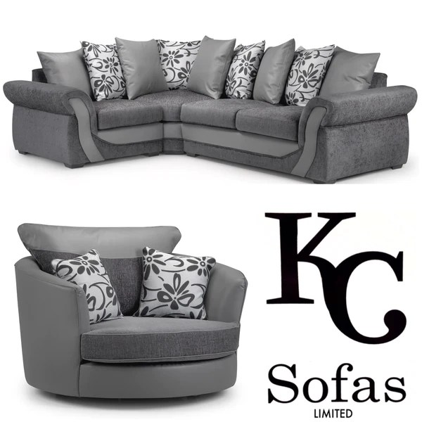 cheap fabric corner sofa beds uk large sectional sofas under 1000 swan & swivel chair set – kc