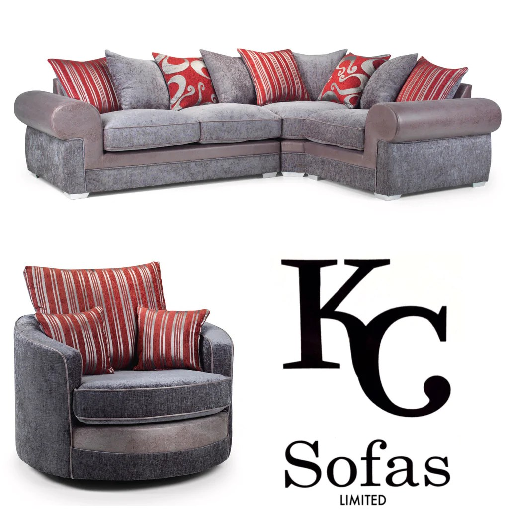 corner sofa and swivel chair diy reupholster accent savona large set  kc sofas