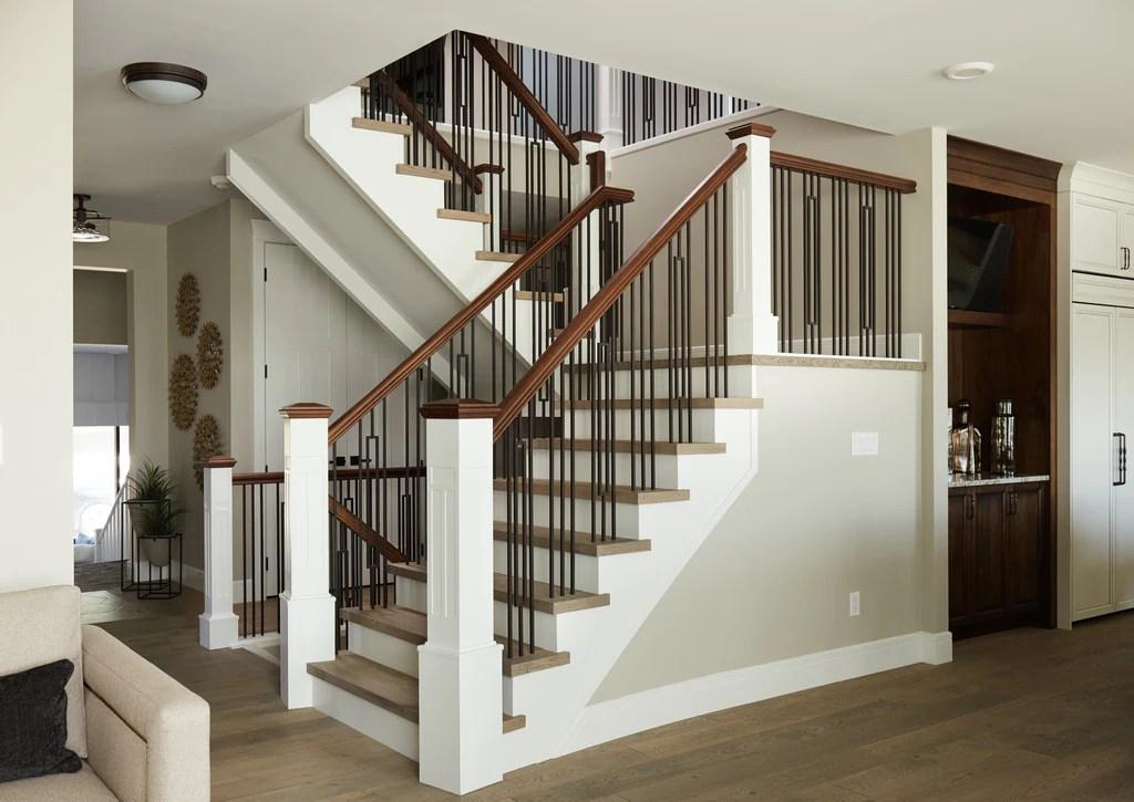 Guide 4 Ingredients To Define Your Personal Stair Railing Style   Custom Wood Stair Railing   Natural Wood   Barn Beam   Metal Spindle   Attic Stair   Rail