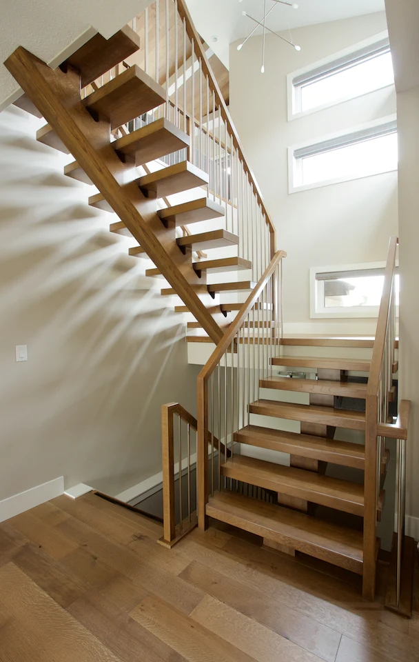 Make Your Stairs A Lasting First Impression – Custom Newel Posts | Wood Mono Stringer Stairs | Central | Arch | Hardwood | Glass | Timber