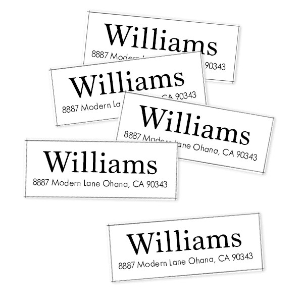 modern return address labels