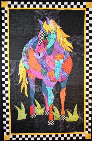 Bj Designs Amp Patterns Cheyenne Horse Applique Quilt