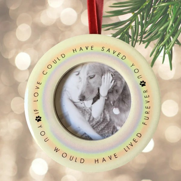In Memory Of Dog Christmas Ornaments