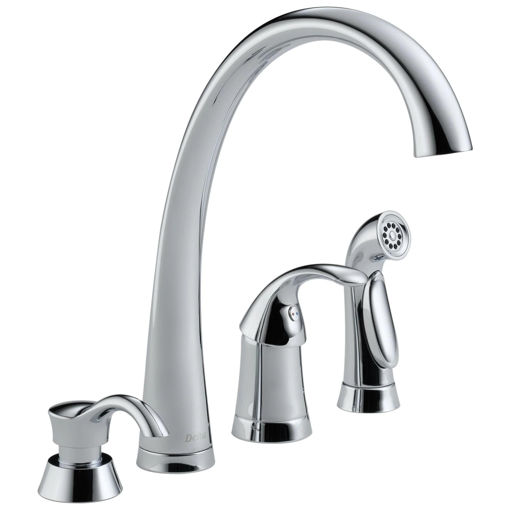 Delta Pilar Collection Chrome Finish Single Handle Kitchen Sink Faucet Faucetlist Com