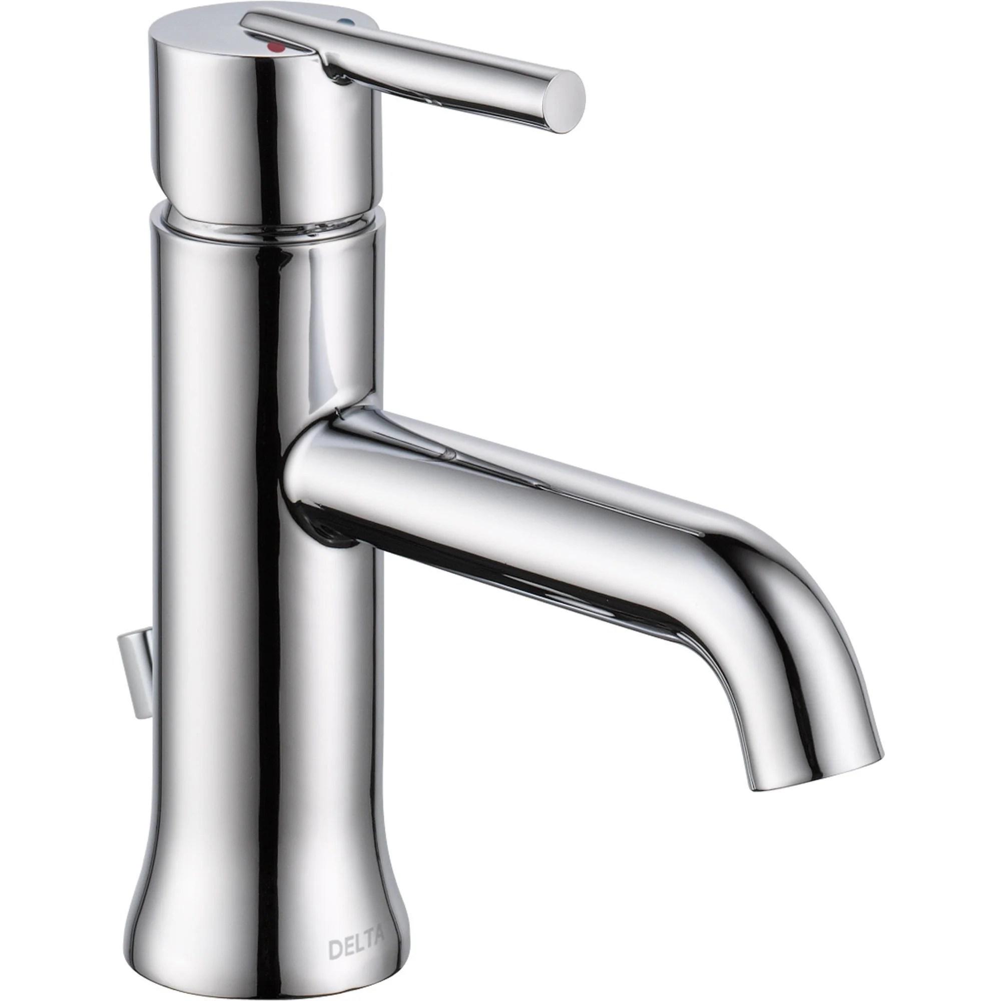 delta trinsic modern single handle 1 hole chrome bathroom sink faucet 590135