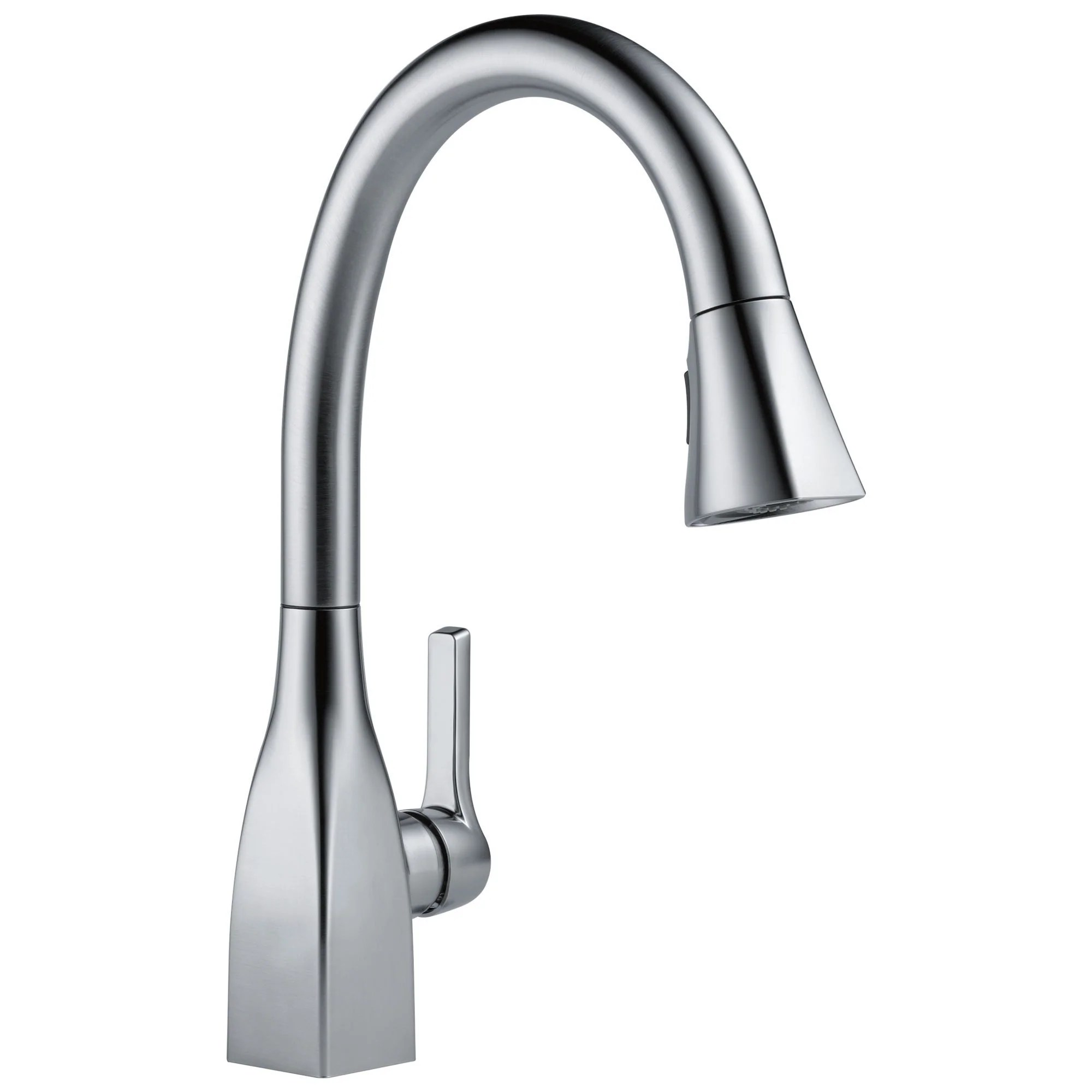 delta mateo collection arctic stainless steel finish modern single lever handle pull down kitchen sink faucet 729167