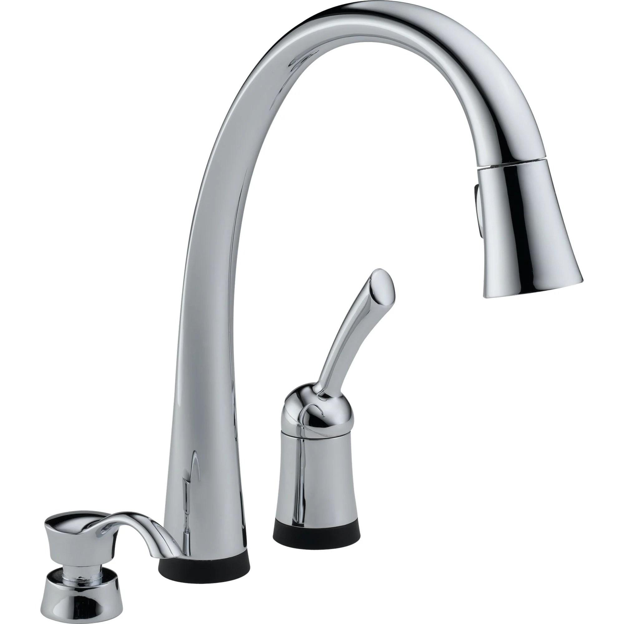 delta pilar touch2o chrome pull down sprayer kitchen faucet w dispenser 460700